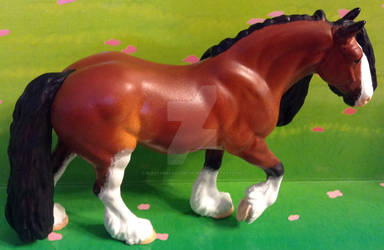 Bay Clydesdale Draft Resin