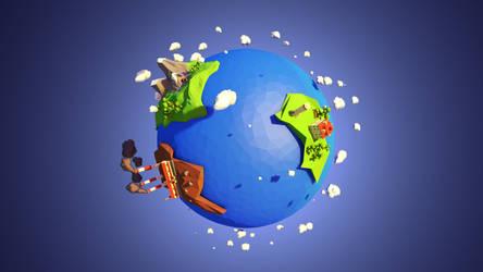 Planet lowpoly by pakszotownia