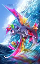 Rainbowdash Seapony by Komical