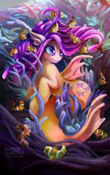 Fluttershy Seapony by Komical