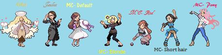 Mystic Messenger as Pokemon Trainers- Females by darkangel1008