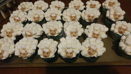 Sheep cupcakes!!!