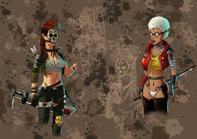Post-apocalyptic chicks