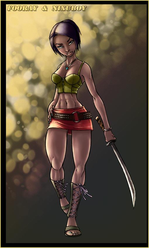 Samurai chick by nixuboy