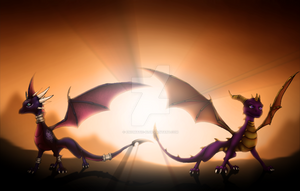 Spyro and Cynder by Enigmatic-Ki
