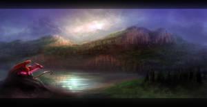 Dark Lakeside :Speed Painting:
