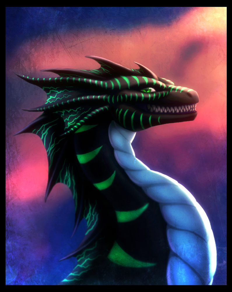 Draconic grin by Enigmatic-Ki