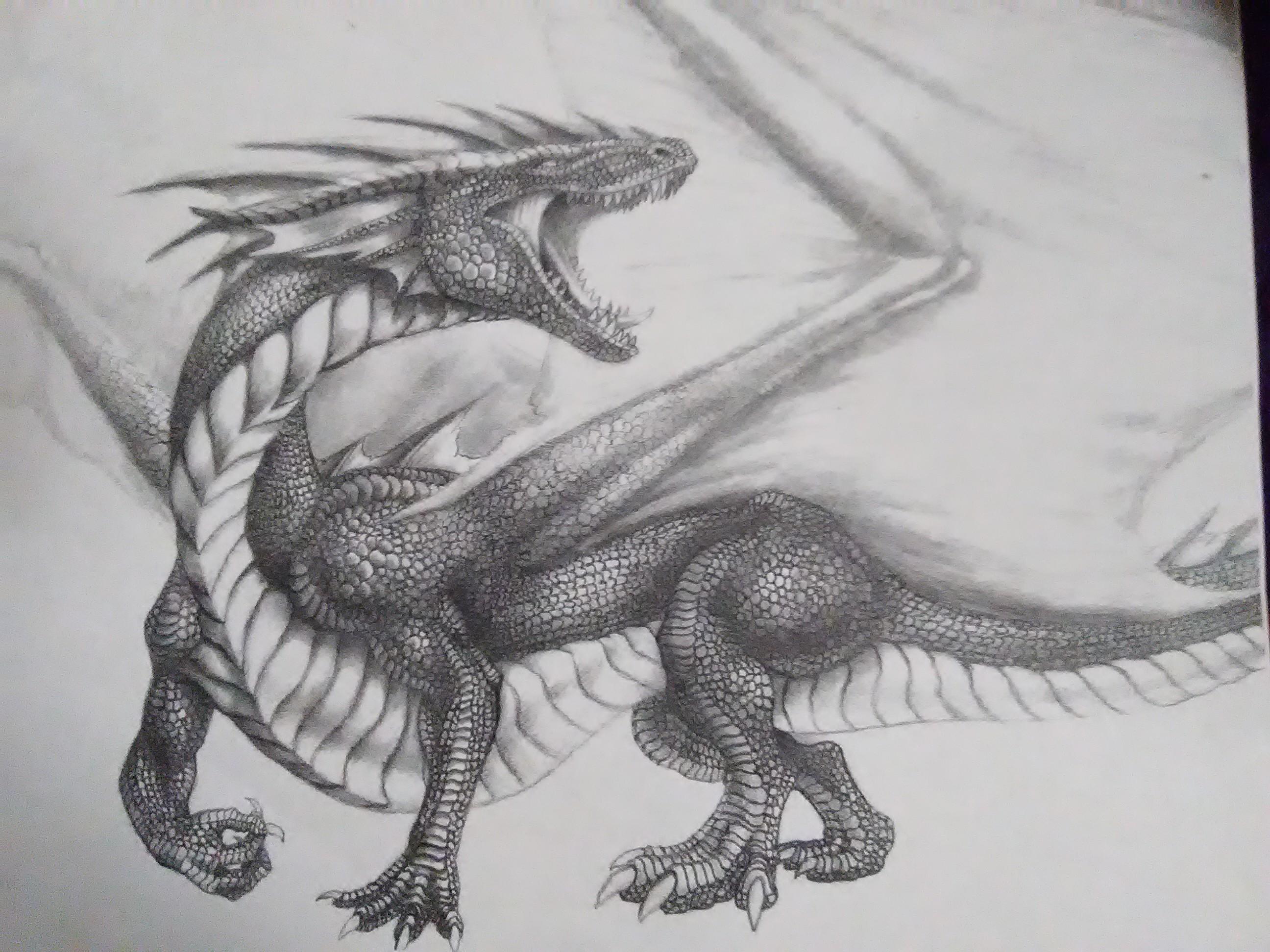 Roaring Dragon by Enigmatic-Ki