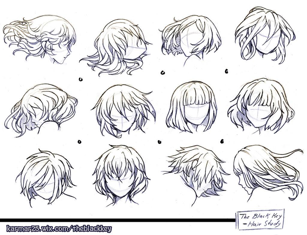 The Black KEY: Study Hair 1 by sonamy-25