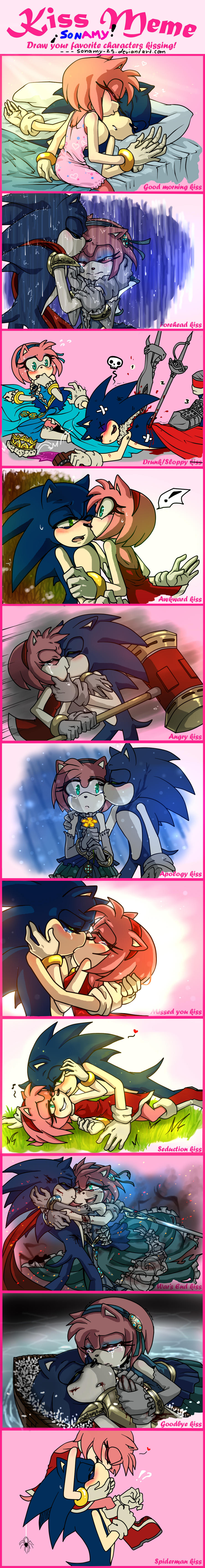 Sonamy- Meme Kiss by kalisami on DeviantArt