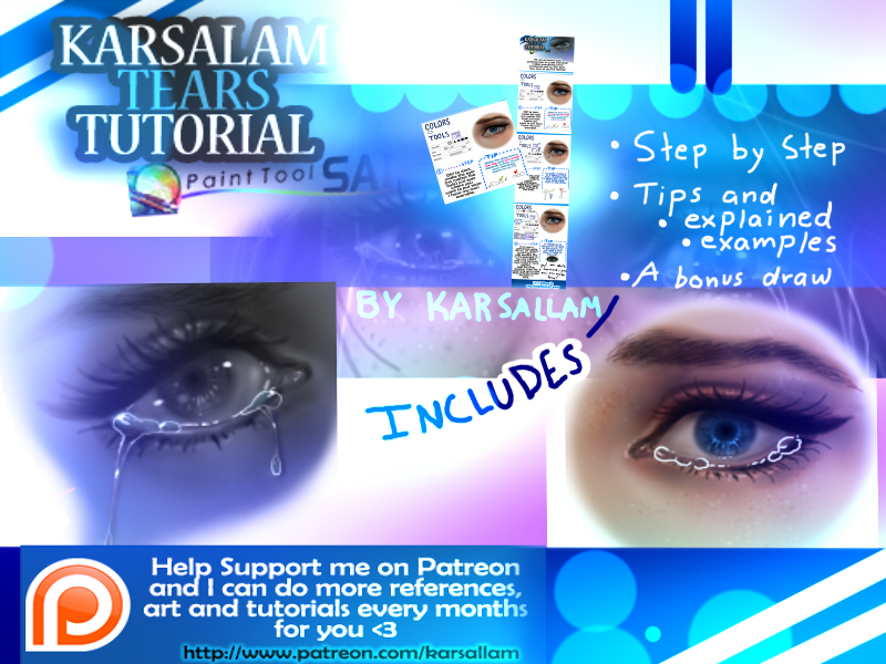 how to draw tears or water in paint tool sai