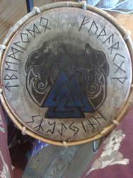Odin Drum Head by cheshiewolf