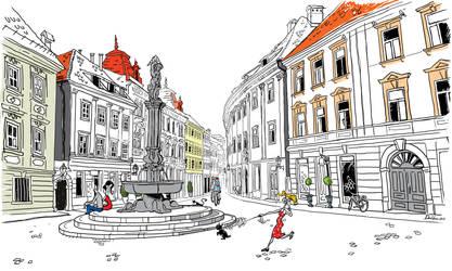 Ljubljana_town by klori