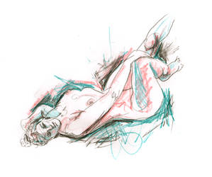 Reclining woman by beoulve
