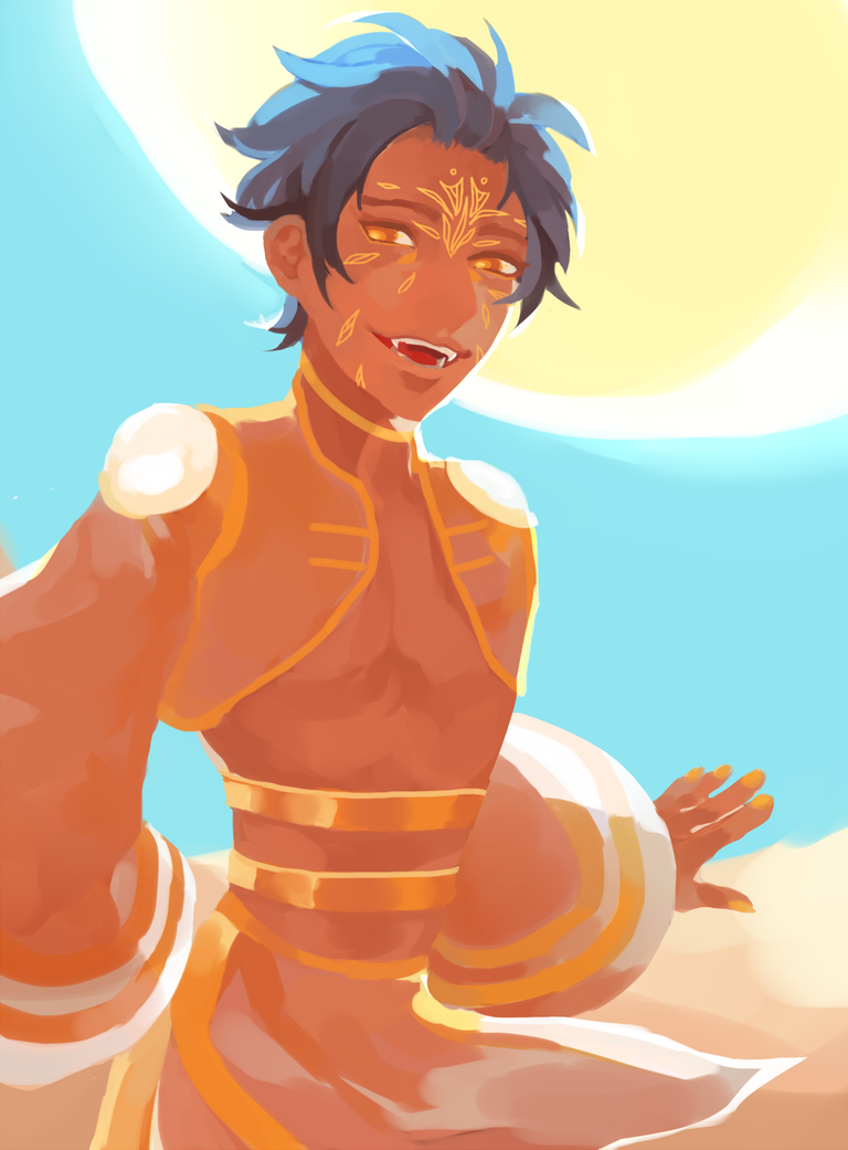 why is sand so hot in the summer by Sarishinohana