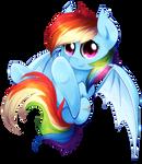 Rainbow batponi best poni!