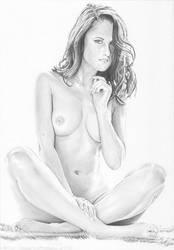 Cross-legged nude by stevie-wydder