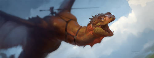 Dragonrider by wibben