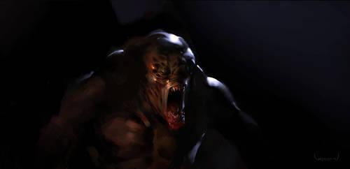 Monster in the dark by wibben