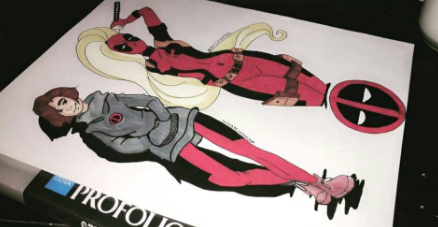 Lady deadpool by QueenOfDarkneess