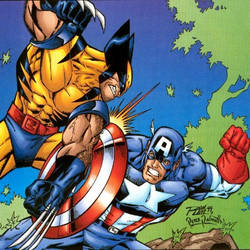 Wolverine VS Captain America by PeterPalmiotti