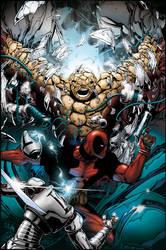 Deadpool Splash by PeterPalmiotti