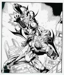 Wolverine - Iron Man by PeterPalmiotti