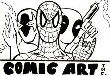 Comic Art Inc. logo by PeterPalmiotti
