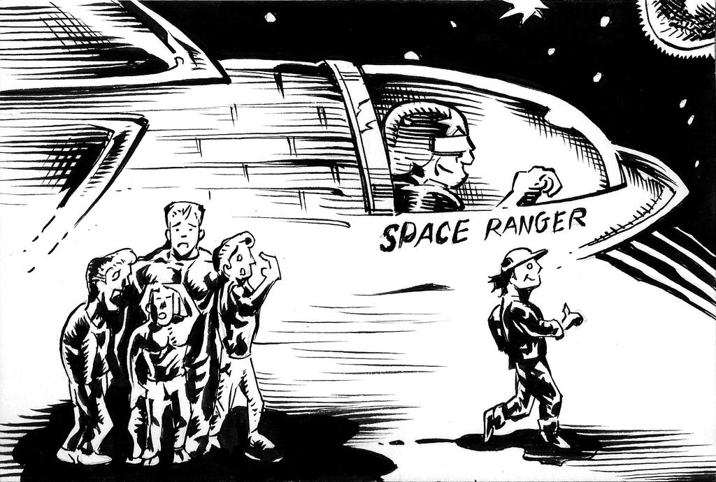 Inktober Day 11 - Space Ranger by PeterPalmiotti