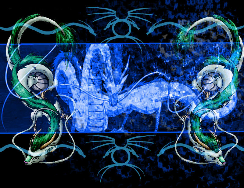 Haku Dragon Wallpaper By Coffeelover1411
