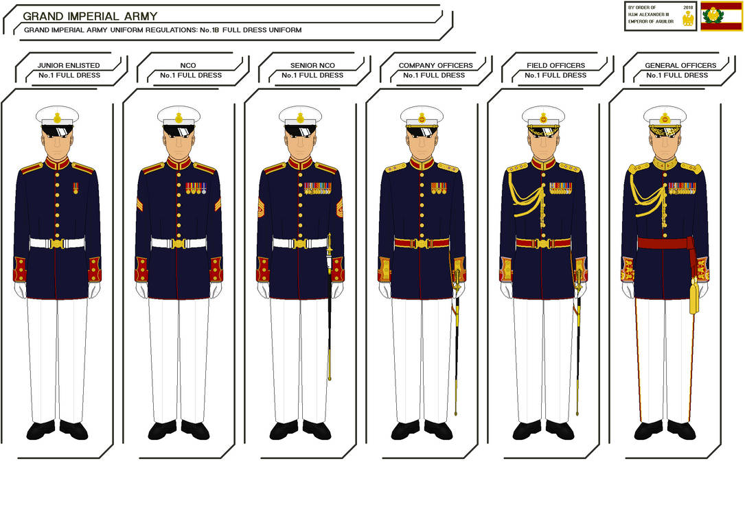 Aquilor Imperial Army No 1b Full Dress Uniform by