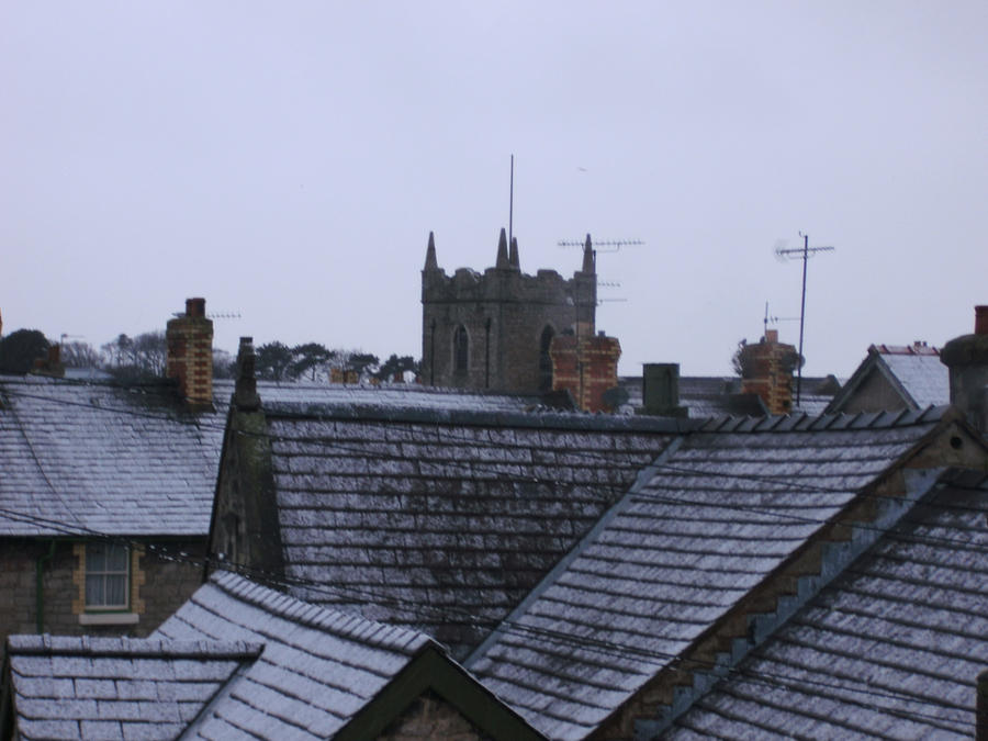 Roof Tops Sprinkled With Snow By Geardupfritz On Deviantart