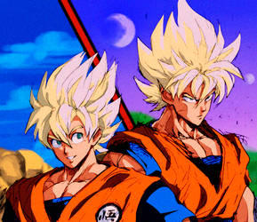 Goku drawn by Murata color