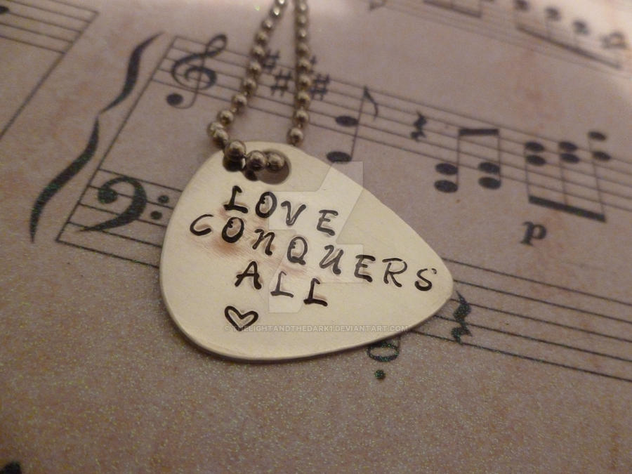 guitar Pick - Love conquers all by thelightandthedark1 on DeviantArt
