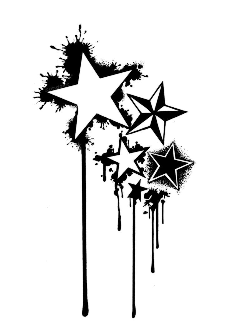 stars tattoo by sandersk on deviantart. Black Bedroom Furniture Sets. Home Design Ideas