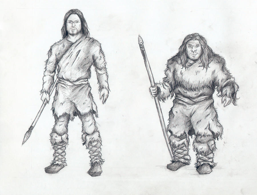 Cro-Magnon and Neanderthal