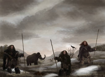 Mammoth hunters by Mihin89