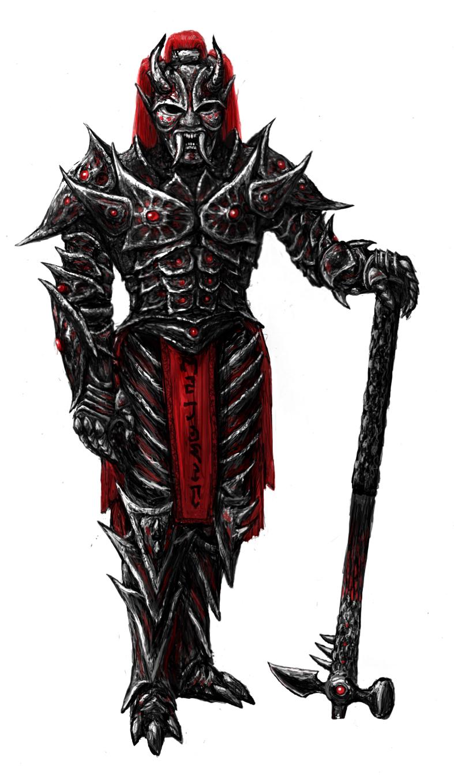 Dremora lord by Swietopelk