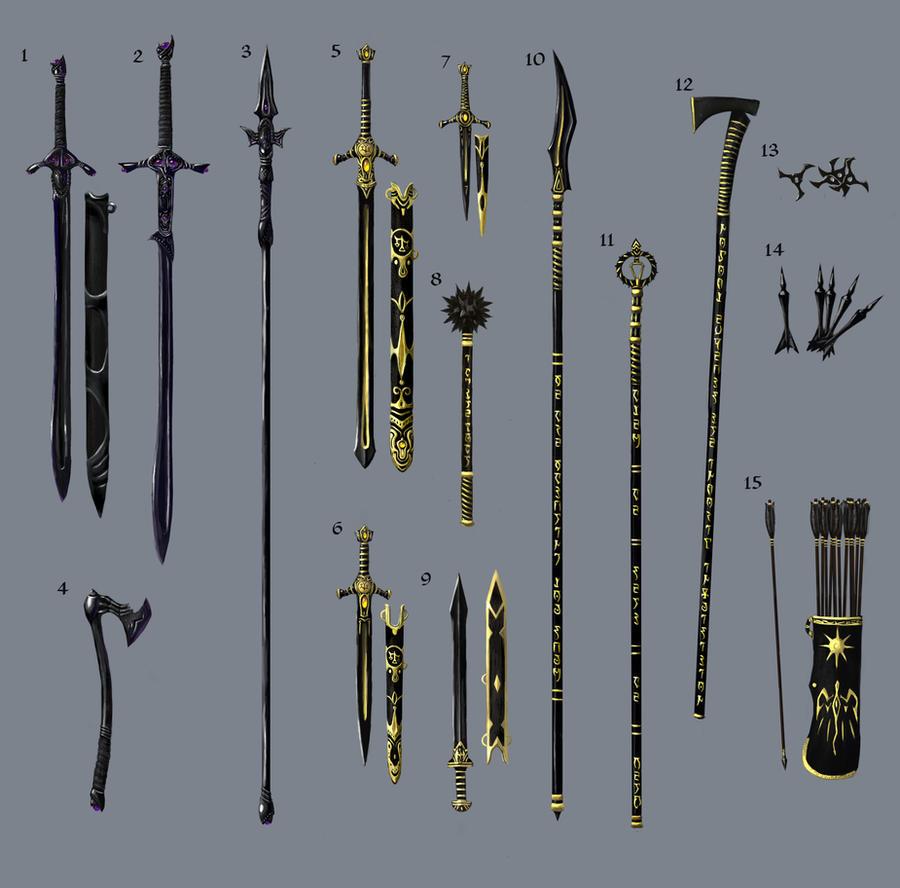 Ebony Weapons by Swietopelk