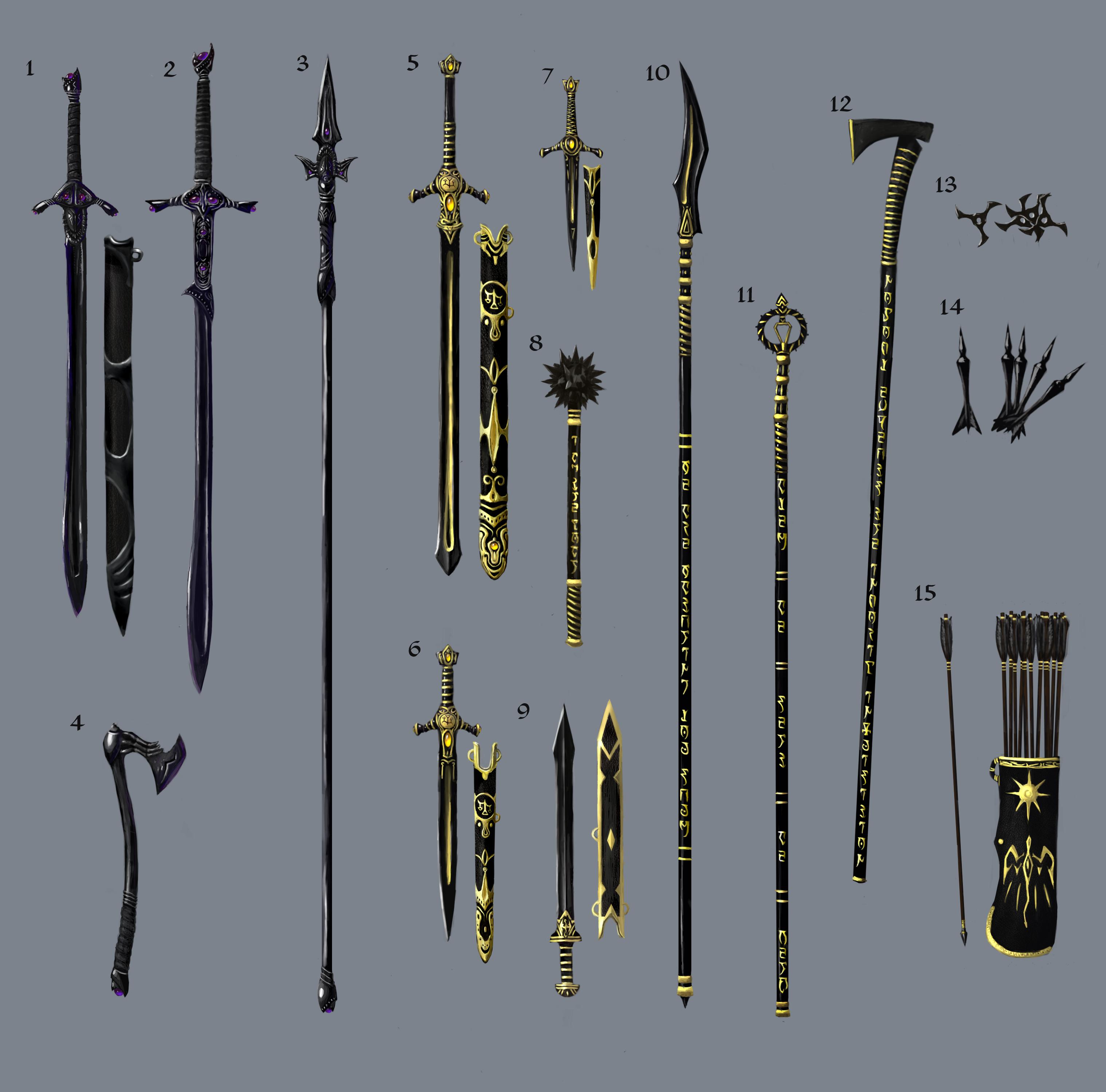 Easter Present Ideas Weapon Concept Steel Weapons Tesrenewal Morroblivion