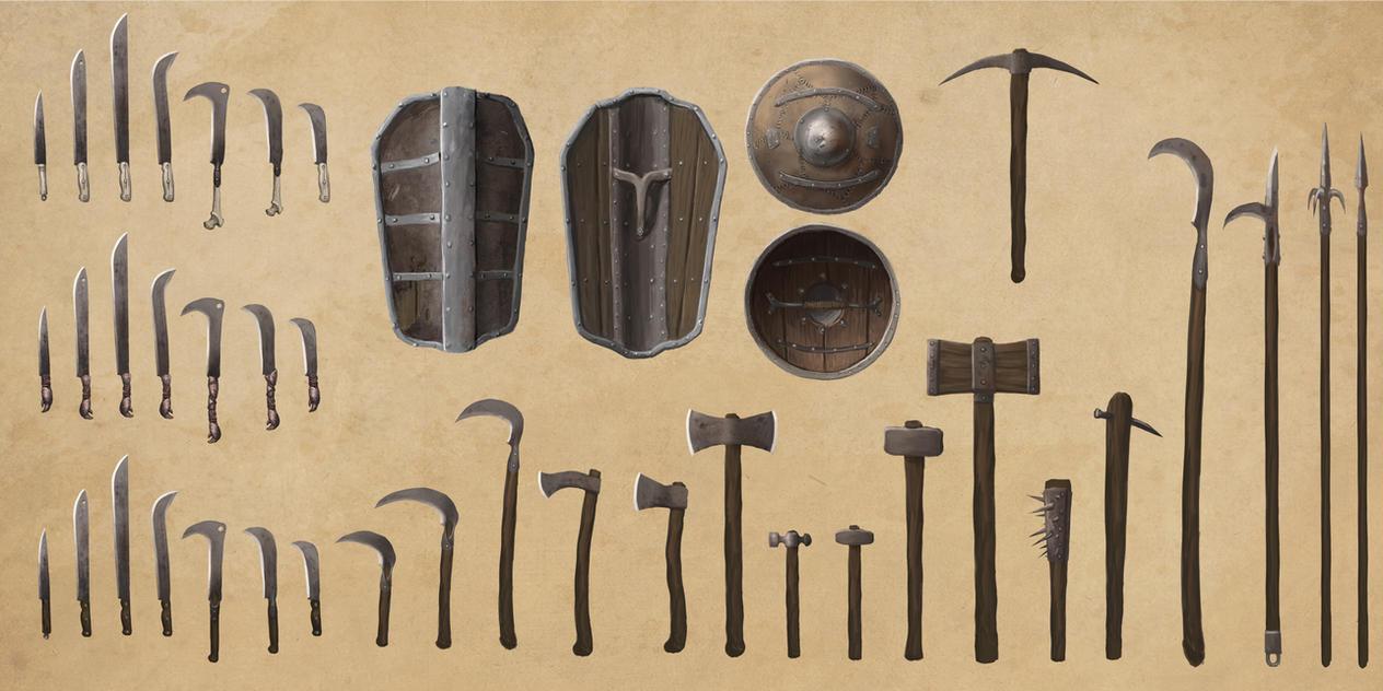 Iron Weapons by Swietopelk