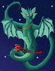 Magical Space Dragon by KarenRoop