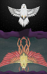 Phoenix Reflection by KarenRoop