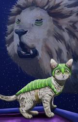 Spiritual Mentor Feline by KarenRoop