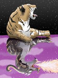 Tiger Dragon Reflection by KarenRoop