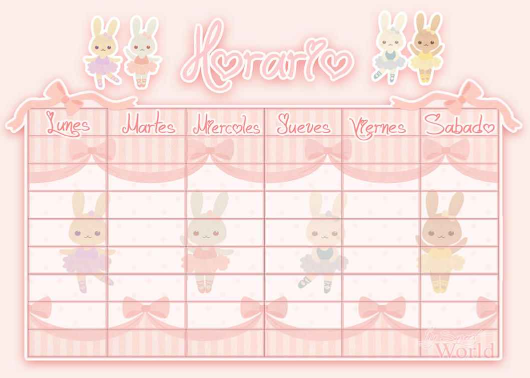Horario Bunny Cute -My Sweet World- by Norikiss