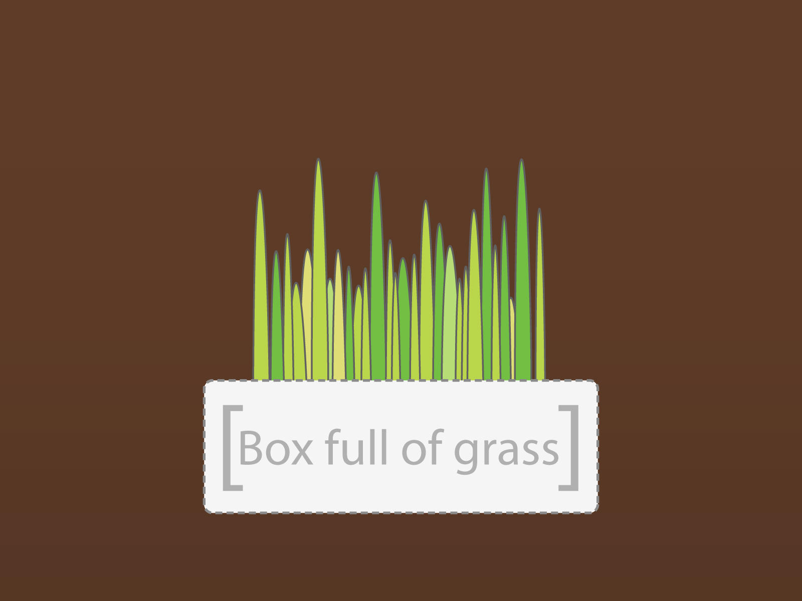 box full of grass by vinitlee