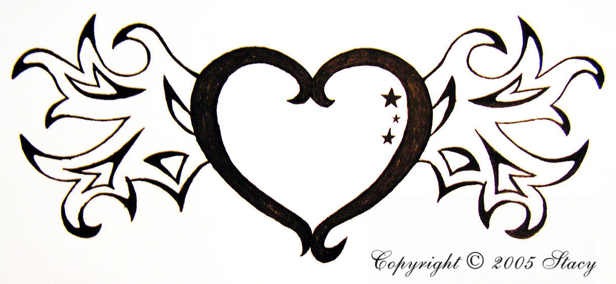 Heart With Wings Drawings