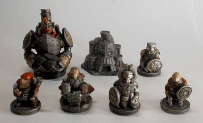 3D printed Dwarves army by maxew