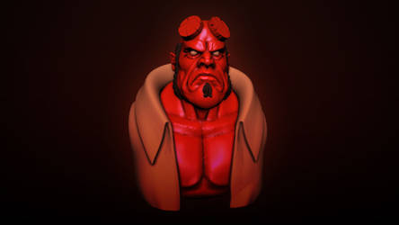 Hellboy Sculpt by maxew